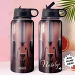 Violin KD4 Personalized HHA0810015 Stainless Steel Bottle With Straw Lid