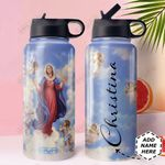 Mother Mary Personalized MDA0910021 Stainless Steel Bottle With Straw Lid