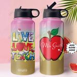 Teacher Personalized MDA1210035 Stainless Steel Bottle With Straw Lid