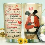 Black Mom To Daughter HTR1210009 Stainless Steel Tumbler