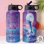 Dolphin Personalized HHA1410007 Stainless Steel Bottle With Straw Lid