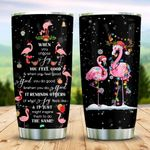 Christmas Flamingo KD2 MAL1710006 Stainless Steel Tumbler