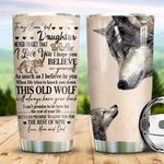 Wolf Parents To Daughter NTZ1910005 Stainless Steel Tumbler