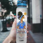Afros Nurse Personalized HHA1708001 Water Tracker Bottle