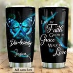 Diabetes Butterfly Personalized KD2 HRM1910011 Stainless Steel Tumbler