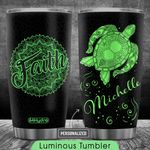 Mandala Turtle Personalized HTR2409002 Luminous Stainless Steel Tumbler