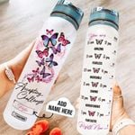 Butterfly Challenges Personalized THZ2608027 Water Tracker Bottle