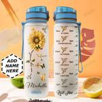 Hummingbird Sunflower Personalized HHE0310032 Water Tracker Bottle