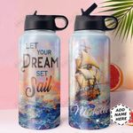 Ocean Ship Personalized HHE0610003 Stainless Steel Bottle With Straw Lid