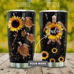 Turtle Sunflower Personalized KD2 HAL0110022 Stainless Steel Tumbler