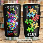 Autism True Color Personalized KD2 HRM1710003 Stainless Steel Tumbler