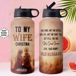 To Wife Personalized MDA0210012 Stainless Steel Bottle With Straw Lid