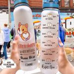 Corgi Personalized HLA2807030 Water Tracker Bottle