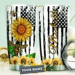 Bee Hippie Personalized HTR0810023 Stainless Steel Tumbler