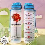 Rose Faith Personalized HTQ0610021 Water Tracker Bottle
