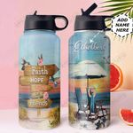 Faith Beach KD4 Personalized DNA1210003 Stainless Steel Bottle With Straw Lid