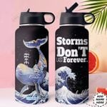 Whale Personalized HHE0110008 Stainless Steel Bottle With Straw Lid