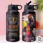 Witch Personalized HHW1510007 Stainless Steel Bottle With Straw Lid