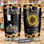 Sunflower Retired Nurse Personalized HTR2309013 Stainless Steel Tumbler
