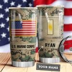 Marine Corps Personalized MDA0610031 Stainless Steel Tumbler
