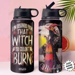 Witch Personalized HHW1310010 Stainless Steel Bottle With Straw Lid