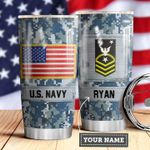 Navy Personalized MDA0510023 Stainless Steel Tumbler