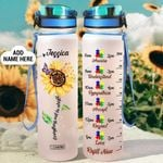 Sunflower Autism Personalized HLV2508021 Water Tracker Bottle