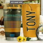School Bus Personalized MDA1610033 Stainless Steel Tumbler