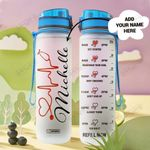 Nurse Personalized HHA2608005 Water Tracker Bottle