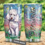White Poodle Starry Night Personalized HTR2509031 Stainless Steel Tumbler