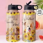 Corgi KD4 Personalized DNA0910009 Stainless Steel Bottle With Straw Lid