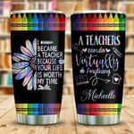 Teacher Crayon Personalized KD2 KHL1610013 Stainless Steel Tumbler
