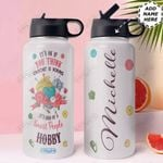Crochet Personalized HHA1310003 Stainless Steel Bottle With Straw Lid