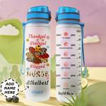 Thanksful Nurse Personalized DNA2209002 Water Tracker Bottle