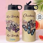 Butterfly KD4 Personalized MDA0310004 Stainless Steel Bottle With Straw Lid