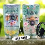 Flower Camera Girls Personalized KD2 HNL1210016 Stainless Steel Tumbler