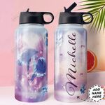 Love Dolphin Personalized HHE0310015 Stainless Steel Bottle With Straw Lid