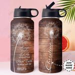 Faith Personalized MDA0210009 Stainless Steel Bottle With Straw Lid