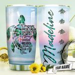 Courage Turtle Personalized THV0910003 Stainless Steel Tumbler