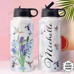 Hummingbird Personalized HHE0310038 Stainless Steel Bottle With Straw Lid