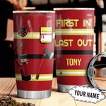 Firefighter Uniform KD4 Personalized HHA1510009 Stainless Steel Tumbler