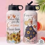 Big Girl Personalized HHE3009003 Stainless Steel Bottle With Straw Lid
