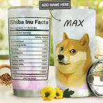 Shiba Inu Facts Personalized MDA2010030 Stainless Steel Tumbler