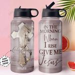 Horse Jesus Personalized MDA1510016 Stainless Steel Bottle With Straw Lid