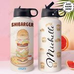 Shiba Inu Personalized HHE2509013 Stainless Steel Bottle With Straw Lid