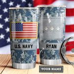 Navy Personalized MDA0510032 Stainless Steel Tumbler