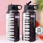 Piano KD4 Personalized HHA0810011 Stainless Steel Bottle With Straw Lid