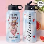Vegan Personalized HHE0510004 Stainless Steel Bottle With Straw Lid
