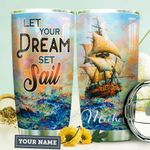 Ocean Ship Personalized HHE0610009 Stainless Steel Tumbler