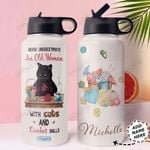 Black Cat Crochet Personalized HHA1610001 Stainless Steel Bottle With Straw Lid